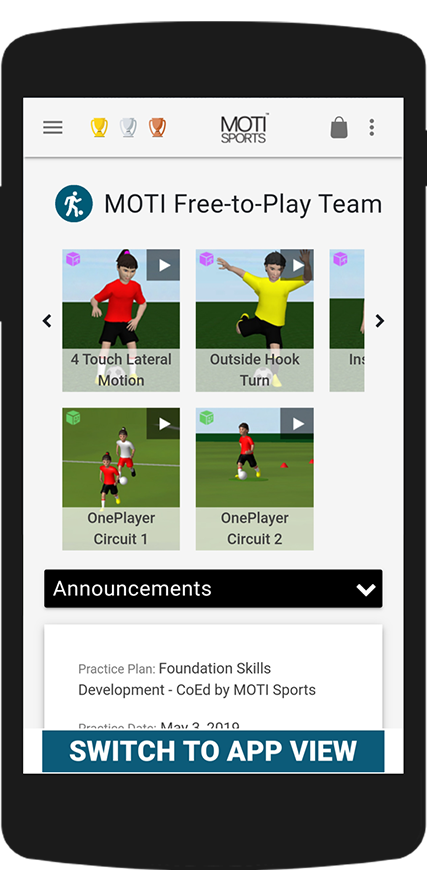 Get your soccer training app here
